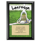 Lacrosse Award Plaque - Black
