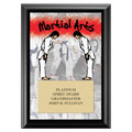 Martial Arts Award Plaque - Black