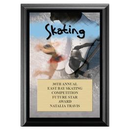 Skating Award Plaque - Black