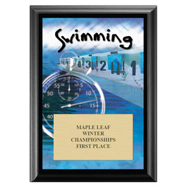 Swimming Award Plaque - Black