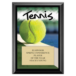Tennis Award Plaque - Black