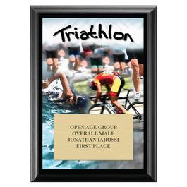 Triathlon Award Plaque - Black