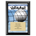 Volleyball Award Plaque - Black
