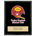 Full Color Sports Award Plaque - Black w/ Engraved Plate