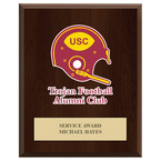 Full Color Sports Award Plaque - Cherry Finish w/ Engraved Plate
