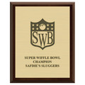 Sports Award Plaque - Cherry Finish w/ Engraved Plate
