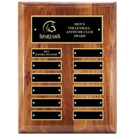 Walnut Perpetual Sports Award Plaque