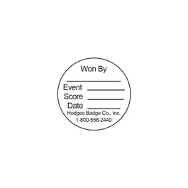 Round Stick-on Record Card for Sports Medals