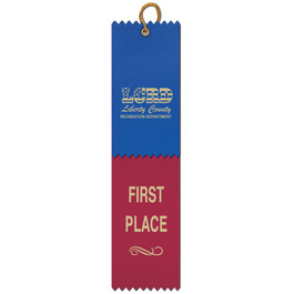 2 Layered Pinked Top Award Ribbon