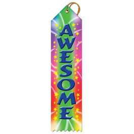 Stock Awesome Sports Award Ribbon
