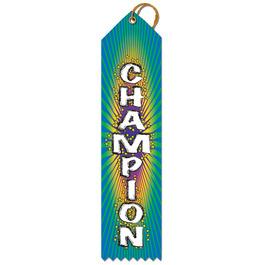 Stock Champion Multicolor Point Top Sports Award Ribbon