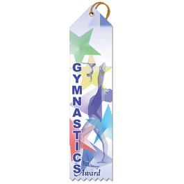 Stock Gymnastics Sports Award Ribbon