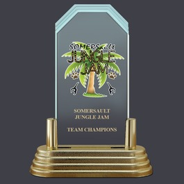 Pop-In™ Jade Acrylic Sports Award Trophy