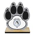 Birchwood Paw Print Sports Award Trophy w/ Natural Birchwood Base