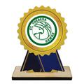 Birchwood Rosette Sports Award Trophy w/ Natural Birchwood Base