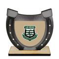 Birchwood Horseshoe Sports Award Trophy w/ Natural Birchwood Base