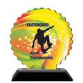 Custom Shape Birchwood Sports Award Trophy w/ Black Base