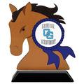 Birchwood Horse Head Sports Award Trophy w/ Black Base