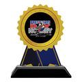 Birchwood Rosette Sports Award Trophy w/ Black Base