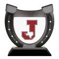 Birchwood Horseshoe Sports Award Trophy w/ Black Base