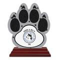 Birchwood Paw Print Sports Award Trophy w/ Rosewood Base