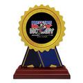 Birchwood Rosette Sports Award Trophy w/ Rosewood Base