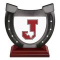Birchwood Horseshoe Sports Award Trophy w/ Rosewood Base