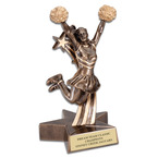 Cheerleader Superstar Resin Award Trophy