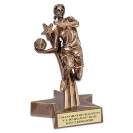 Female Basketball Superstar Resin Award Trophy