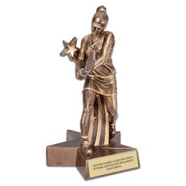 Female Tennis Superstar Resin Award Trophy