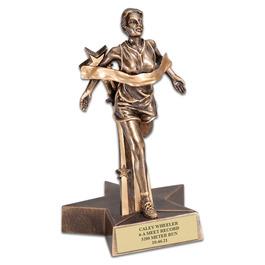 Female Track Superstar Resin Award Trophy