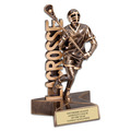 Male Lacrosse Superstar Resin Award Trophy