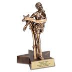 Male Track Superstar Resin Award Trophy