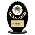 Black Free Standing Oval Sports Award Trophy