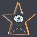 Full Color Gold Star Shimmer Acrylic Swim Award Trophy