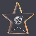 Engraved Gold Star Shimmer Acrylic Swim Award Trophy