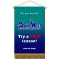 Vinyl Mini Swimming Banner w/ Fringe