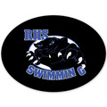 Oval Swimming Window Decal