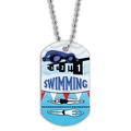 Full Color Swim Goggles Dog Tag