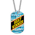 Full Color Swim Heat Winner Dog Tag