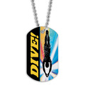 Full Color Swim Dive Dog Tag