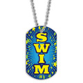 Full Color Swim Blue Dog Tag