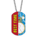 Full Color Swim Best Time Dog Tag