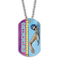 Full Color Swim Crawl Dog Tag