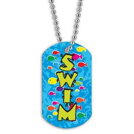 Full Color Swim Fish School Dog Tag