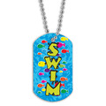 Full Color Swim Fish School Dog Tag