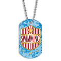 Full Color Swim Shield Dog Tag