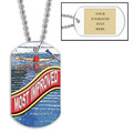 Personalized Swim Most Improved Dog Tag w/ Engraved Plate