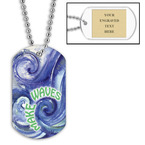 Personalized Swim Make Waves w/ Engraved Plate