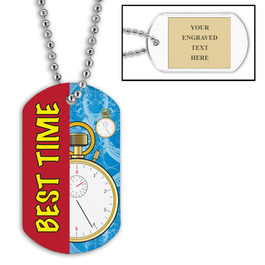 Personalized Swim Best Time w/ Engraved Plate